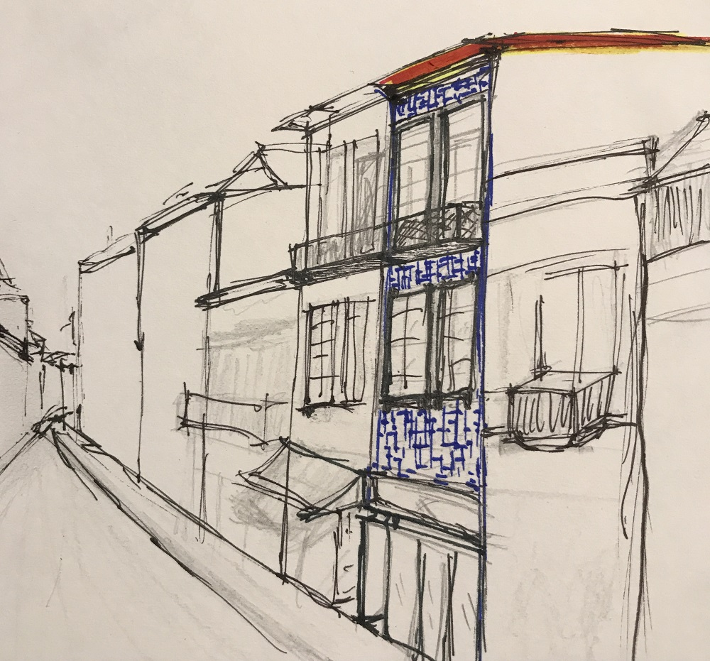 Porto - Raul Brandao by Houselab - esquisso exterior